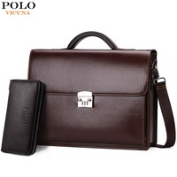 VICUNA POLO Luxury Business Mens Briefcase With Code Lock High Quality OL Business Man Bag Italy Brand pasta executiva masculino