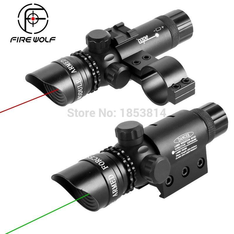 Firewolf Antichoc Tactique Green Dot Sight Portée 5 mw Pointeur Laser Émetteur Pour Fusil Pistolet Logitech R400 Lazer