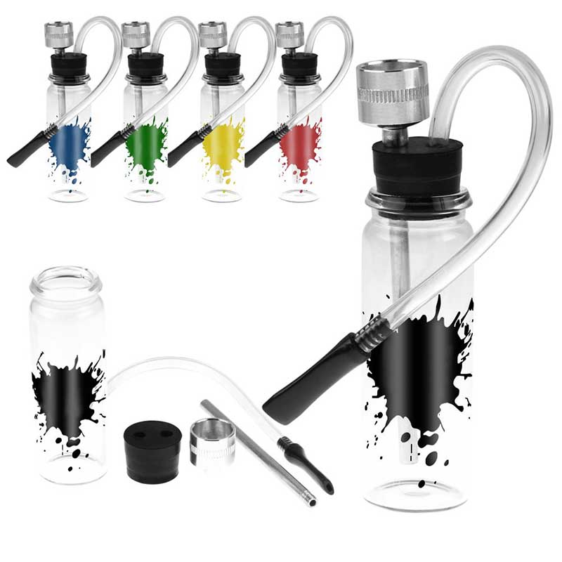 Mini Smoking Glass Water Pipe Clear Small Weed Tobacco Pipes Shisha Hookah Pipes For Smoking Accessories Random Colors MAYITR