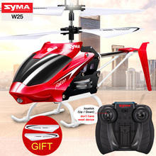 SYMA W25 RC Helicopter Aircraft 2CH Infrangibile Telecomando Copter Elicottero Costruito Gyro Radio Mini Droni Coperta di trasporto Del Capretto Divertente