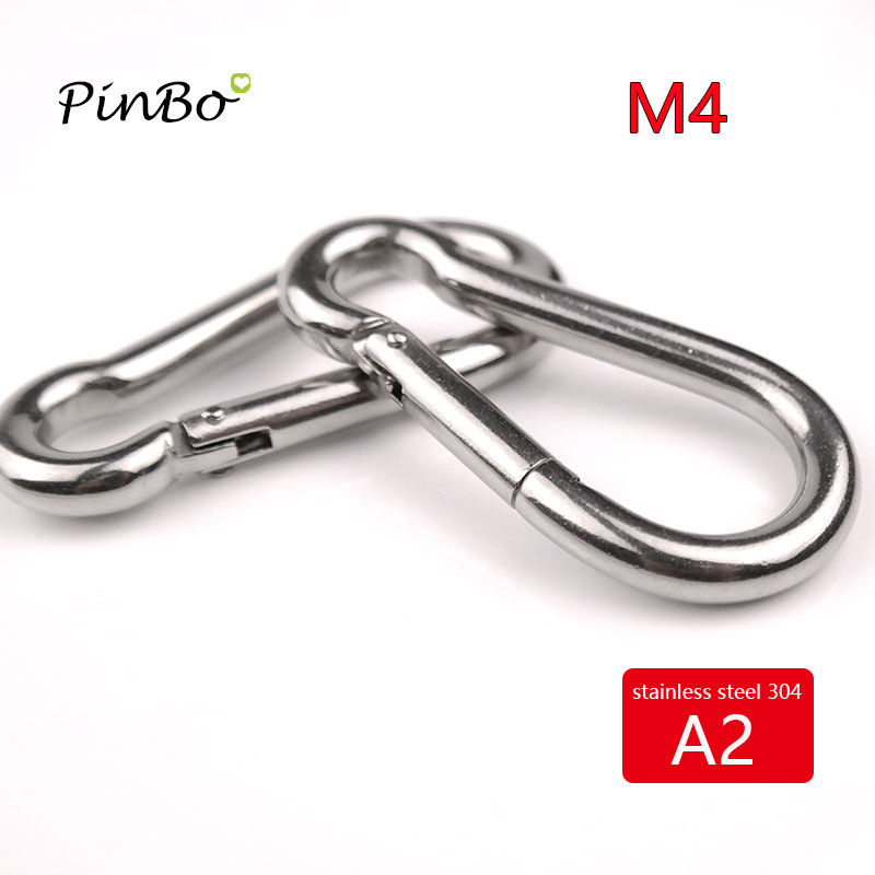 10PCS Quick Link Chain Fastener Carabiner 304 Stainless Steel Quick Release Carabiner Locking Ring Hook with Screw Nut M3.5 Silver