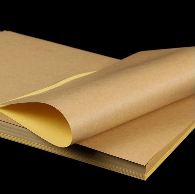 Image 2 - 100 Sheets/lot A4 size Blank Kraft adhesive sticker/Self adhesive A4Kraft Label Paper for Laser Inkjet Printer Packaging Label-in Stationery Stickers from Office & School Supplies