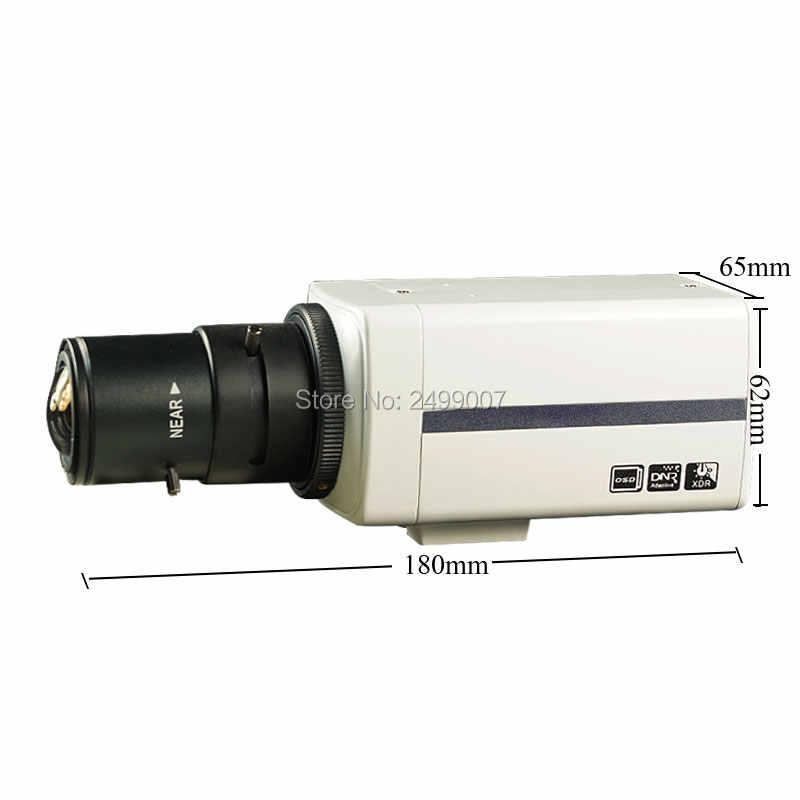 Lihmsek pudełko kamera IP 1920*1080 P o rozdzielczości 2.0 mln pikseli, można dodać obiektyw stałoogniskowy lub soczewka wieloogniskowa 2.8-12mm biały kolor kamera wewnętrzna typu Box