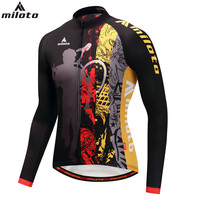 Full Sleeve Cycling Jerseys 2018 For Men Breathable Cycle Clothing Top Black Anti UV Big Boy