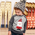 Hot Christmas Santa Claus Kids Clothes Christmas Boys T Shirt Designer Toddler Baby Boys Clothes Cotton Long Sleeve Tee Shirt