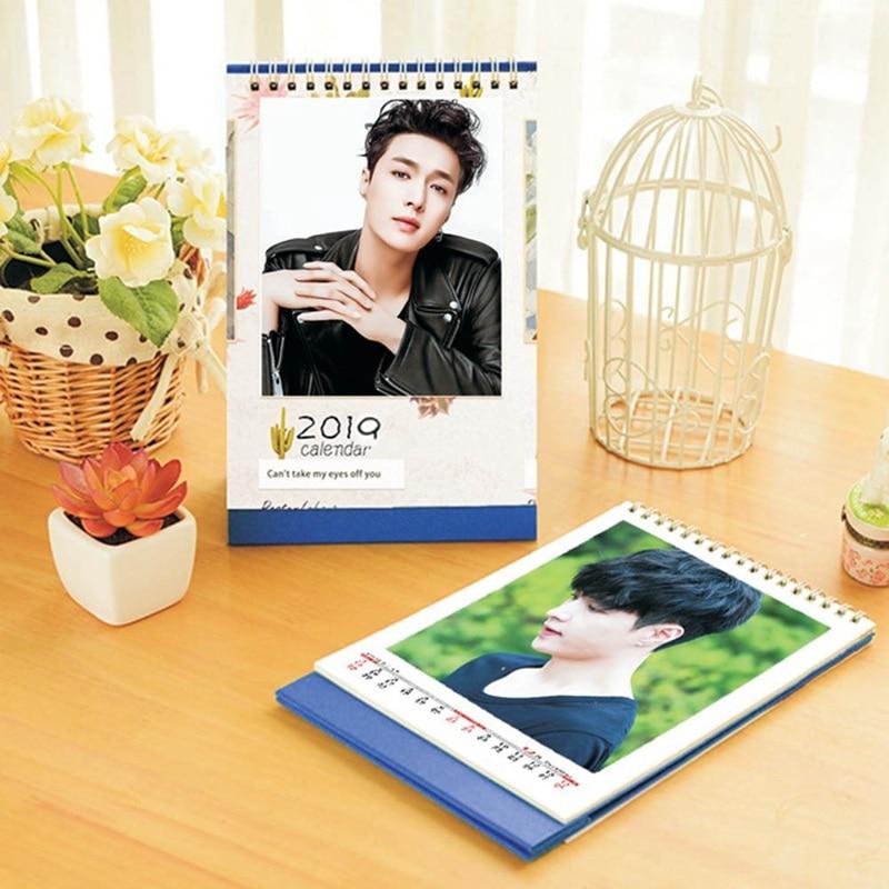 Kalender KüHn 2019 Kpop Exo Schreibtisch Kalender Album Bild Foto Fans Geschenk Papier Planer Notizblock Kalender Office & School Supplies