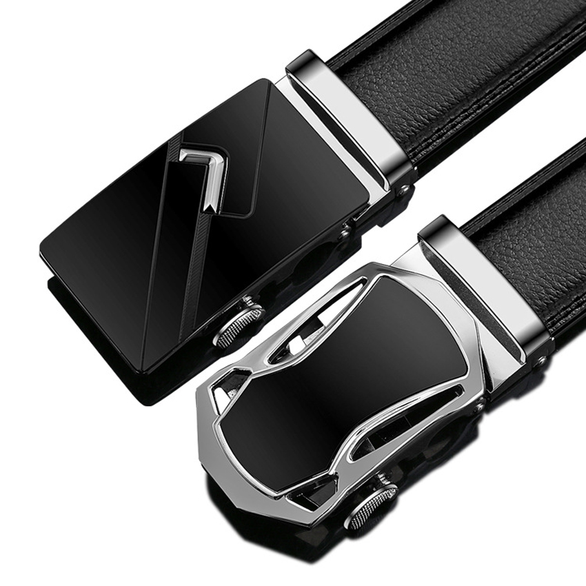 24 Type Men Business Style Belt Designer Genuine Leather Male Belt Automatic Buckle Belt Top Quality Girdle Belts For Suit Pants