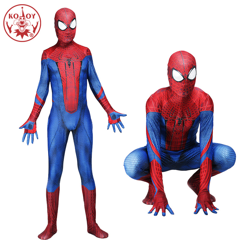 KOOY New Spiderman Costume Spider-Man Peter Benjamin Parker Spider man Cosplay Costume Zentai Superhero Bodysuit Suit Jumpsuits