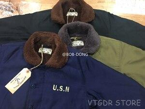 Image 4 - BOB DONG Repro 40s US Navy N 1 Deck Jacke Zurück Farbe Winter Military Uniform USN Mantel der Männer 44