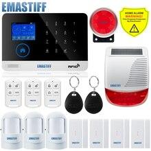 Sistema de alarma WIFI para seguridad del hogar, sistema de alarma contra intrusos, inalámbrico, con energía Solar, Android IOS, envío gratis