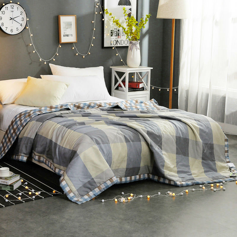 queen comforter brief lattice quilts cotton blanket feather filled mainland