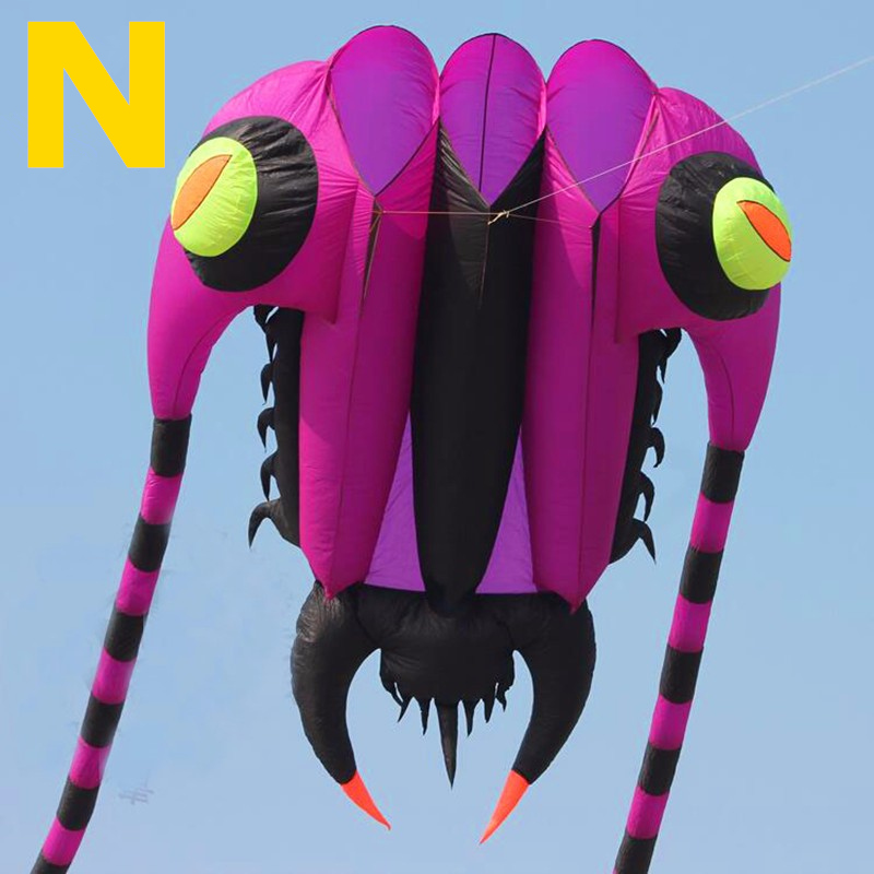 free shipping high quality 16sqm trilobites large soft kite bar nylon ripstop fabric alien inflatable kite dragon kite bird цена 2017