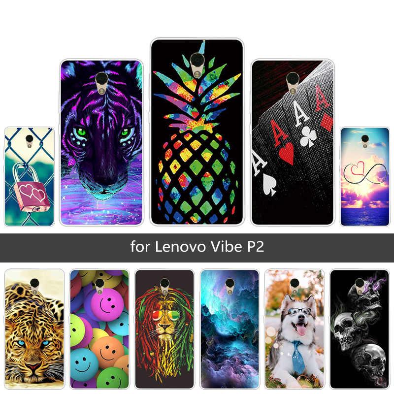 Cho Vibe P2/A42 Ốp Lưng Coque Full Tấm Bảo Vệ Trường Hợp TPU Mỏng dùng cho Lenovo Vibe P2c72 Bao Bọc Điện Thoại Trong Suốt silicone mềm Funda