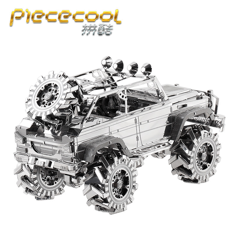 Piececool 3D Metal Puzzle Figure Toy SUV OFF-LOAD VEHICLE 3D Laser Cut Model Puzzle 3D Models Gift Jigsaw Toys For Children Kids