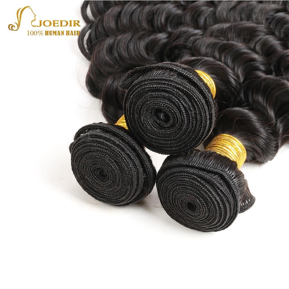 Joedir Deep Wave Human Hair Bundles Med 360 Spets Frontal 3 Bundlar - Skönhet och hälsa - Foto 4