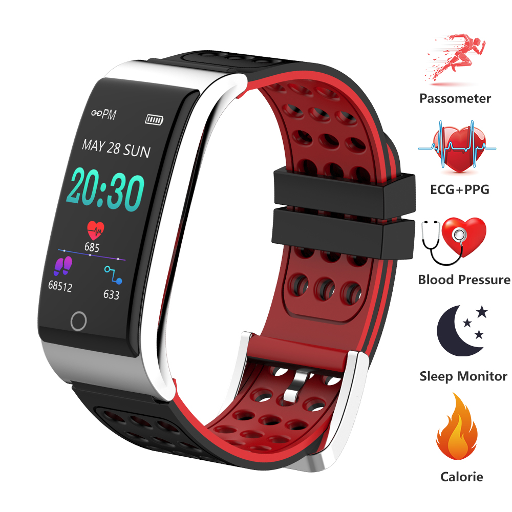 E08 Smart Wristband Heart Rate Monitor ECG PPG Fitness Bracelet Blood Pressure Smart Fitness Band for