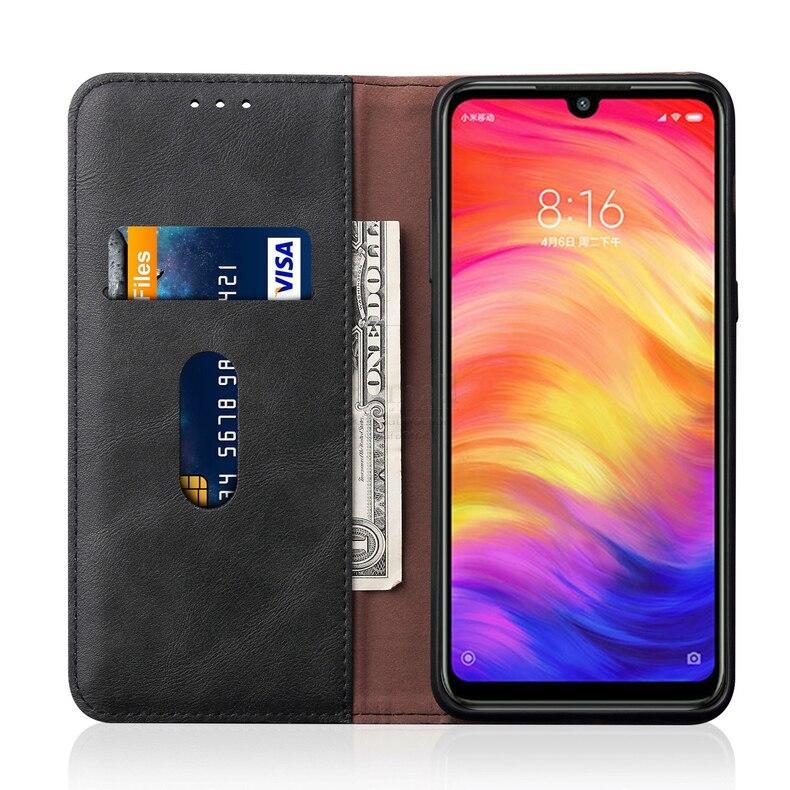 HTB1sPZOJr2pK1RjSZFsq6yNlXXaq Luxury Retro Slim Leather Flip Cover For XiaoMI RedMi Note 7 Case Wallet Card Stand Magnetic Book Cover For Xiomi RedMi 7 Case