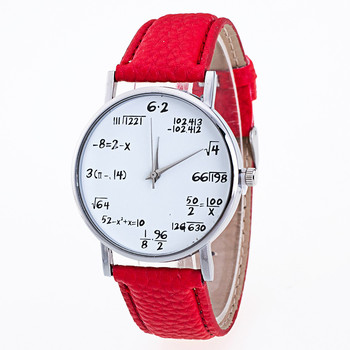 Zegarek z działaniami matematycznymi na tarczy