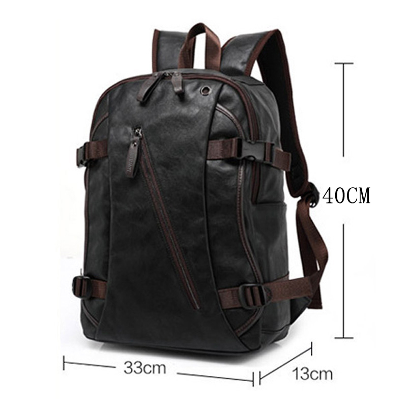 Baijiawei Men Pu Patent Leather Backpacks Men's Fashion Backpack & Travel Bags Western College Style Bags Mochila Feminina #6
