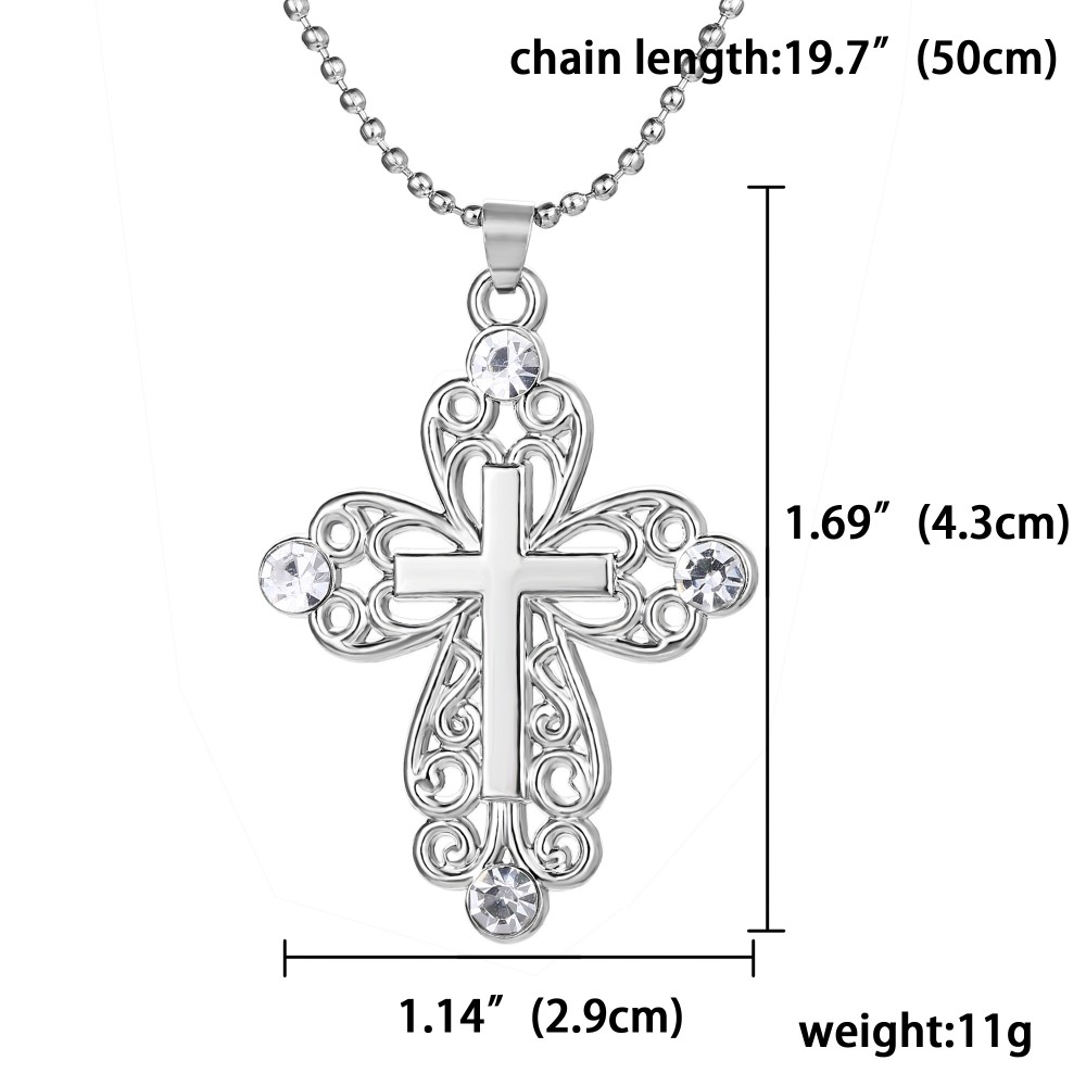 Ancient greece retro necklace plated white k cross pendant ancient greece retro necklace plated white k cross pendant necklace hollow pendant charm hand stamped jewelry for women men biocorpaavc