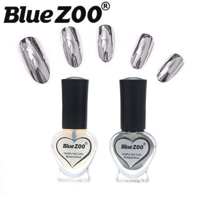 2 Unids/set 6 ml UV Gel Esmalte de Uñas Barniz Efecto Espejo de ...