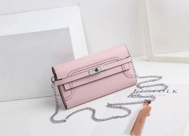 Kafunila 2018 hot fashion girls women female purse luxury genuine leather lock women wallet ladies long card holder clutch bag