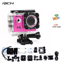 1080P Action camera Wifi 2.0 LCD 170D HD Sport Cameras outdoor DV Helmet Camcoder waterproof sports cam F60