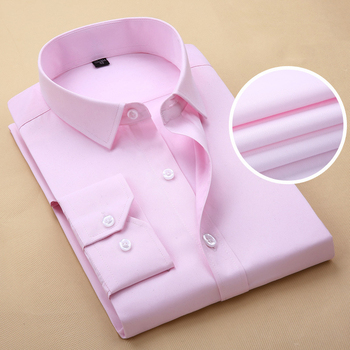 Pink Shirt Men 2017 Brand Striped Mens Work Shirts Long Sleeve Slim Fit Chemise Homme Casual Button Down Mens Dress Shirts 8XL