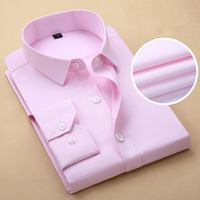 Pink Shirt Men 2017 Brand Striped Mens Work Shirts Long Sleeve Slim Fit Chemise Homme Casual