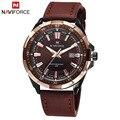 2016 Men Quartz Hour Date Clock Men Casual Sports Watches NAVIFORCE Leather Quartz WaterProof Wristwatch Relogio Masculino LX21