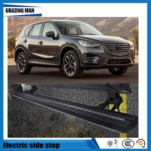 Hot sale Flexible aluminium alloy side step running board Electric pedal for CX-5 2017 2018 1set cnc aluminum alloy side pedal step side step board with receive box for 5 doors jeep axial scx10 scx10ll rc simulated cars
