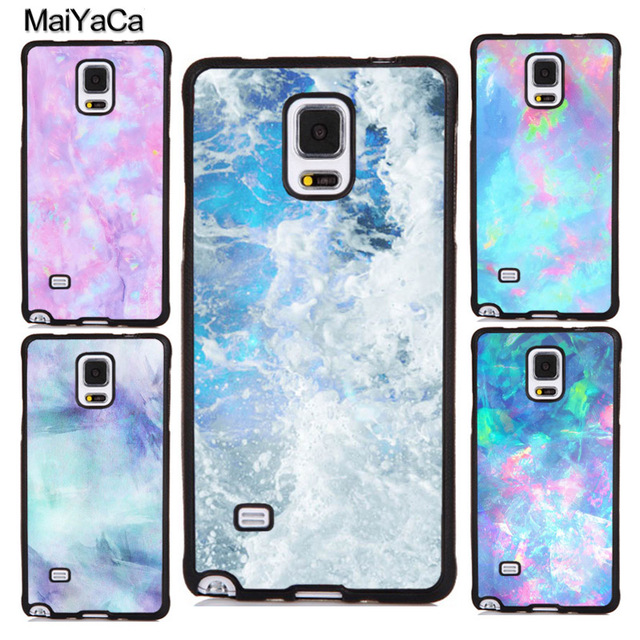 big sale 93ff6 bf41d US $4.12 5% OFF|MaiYaCa Marble Opal Crystal Mobile Phone Cases Cover For  Samsung Galaxy S5 S6 S7 edge plus S8 S9 plus Note 4 5 8 Soft TPU Coque-in  ...