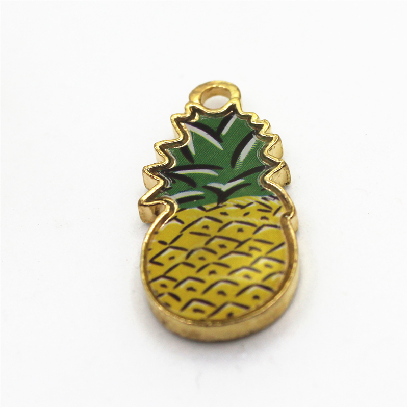 New Arrive 20pcs Fruit Haning Charm Pineapple Charms For DIY Bracelets Necklace Dangle Charm Findings Jewelry Accessories