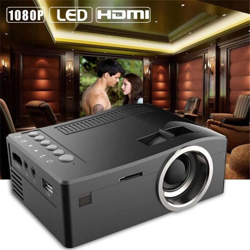 Factory price Hot Selling 1080P HD LED Home MulitMedia Theater Cinema USB TV VGA SD HDMI Mini Projector Free Shipping Feb23