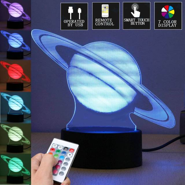 3D Visual Planet Jupiter LED Table L& Calming Night Light Color Changing With Remote Controller Christmas & 3D Visual Planet Jupiter LED Table Lamp Calming Night Light Color ... azcodes.com