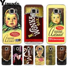 Yinuoda alenka bar wonka chocolate Printing phone Cover Case for samsung galaxy S9 plus S7 edge S6 edge plus S5 S8 plus case(China)