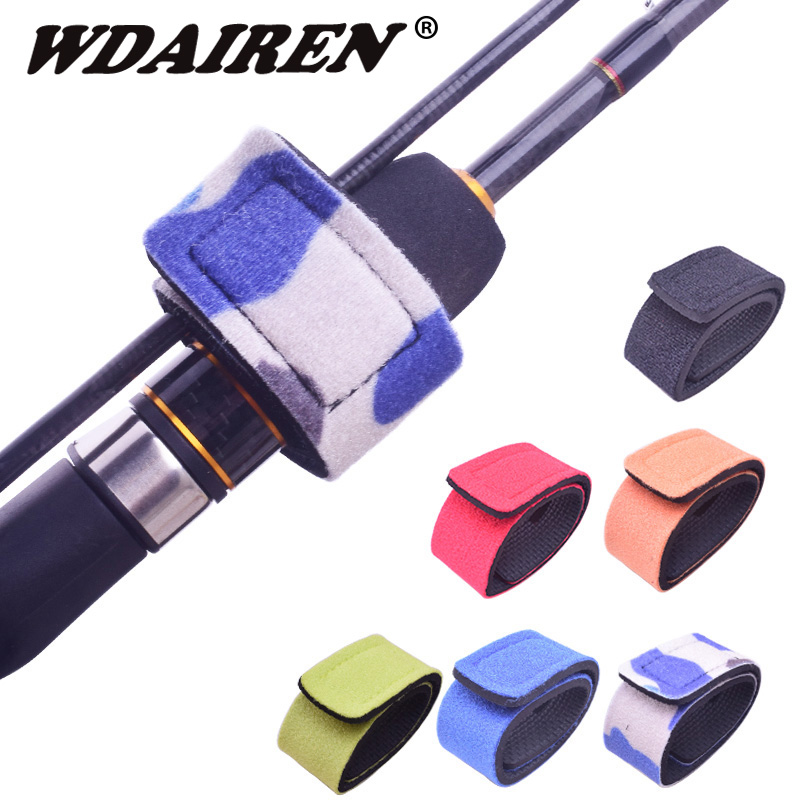 WDAIREN Reusable Fishing Rod Holder Strap Suspenders Belt Hook Loop Fishing Tackle
