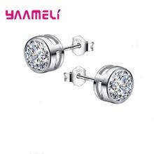 Gift for Women Girls Korea Stype Fashion Simble Butterfly Shape  Crystal Earring High Quality 925 Silver