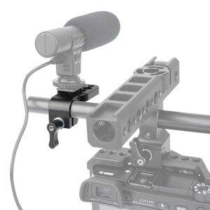 """Image 4 - Niceyrig mini placa de liberação rápida 15mm haste braçadeira para 1/4 """"3/8"""" placa queijo suporte câmera rig braçadeira sapato frio microfone suporte"""