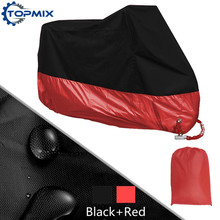 L XL 2XL 3XL 4XL Водонепроницаемая Крышка Мотоцикл Открытый УФ Протектор Мотоцикл Дождь Пыле Крышка с Замком Отверстия Черный + красный
