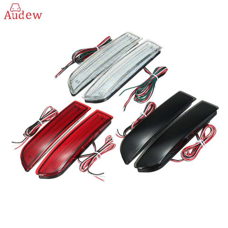 1Pair(2Pcs) Car LED Tail Light Parking Brake Rear Bumper Reflector Lamp for Toyota Avensis/Alphard MK I/RAV4 Red Fog Stop Lights 2x led car styling red rear bumper reflector light fog parking warning brake tail lamp for toyota vellfire alphard 30 series