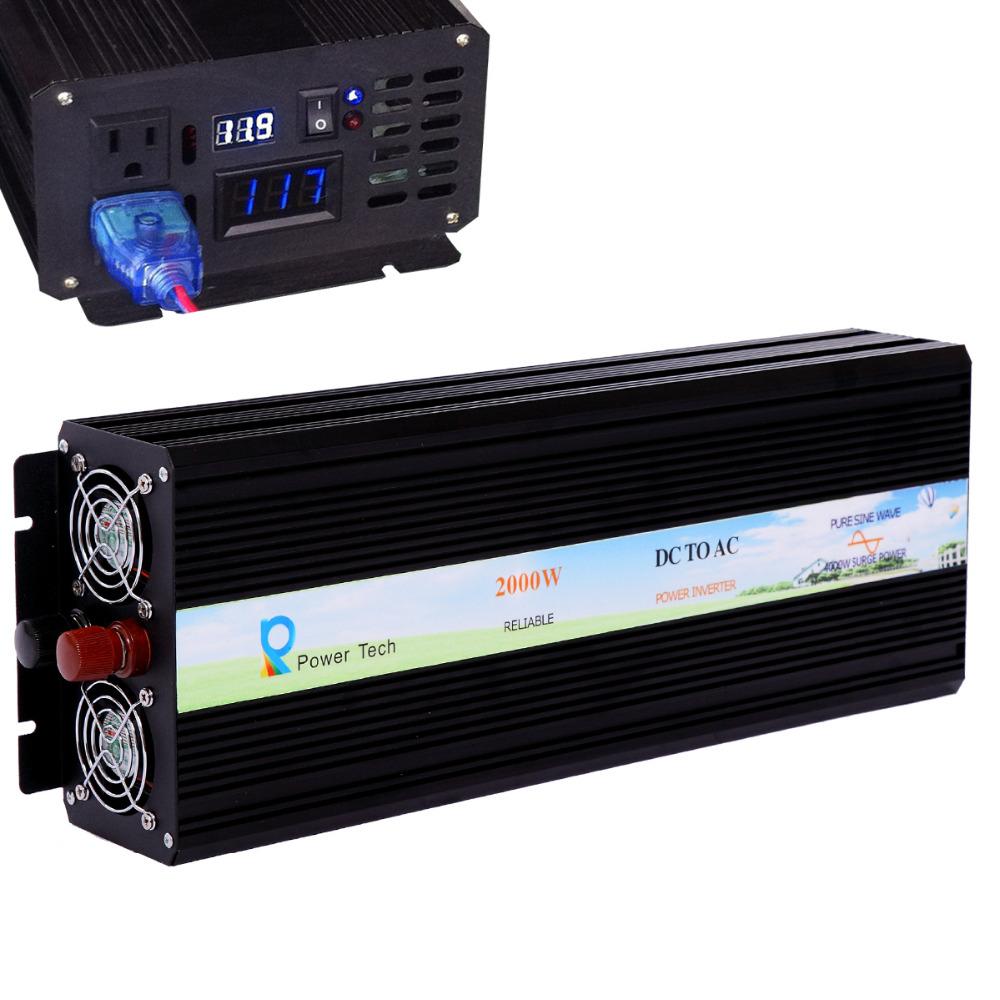 цифровой светодиодный дисплей 2000 вт 12 в 220 в от сетки постоянного тока для конвертер чистая синусоида инвертор солнечной энергии инвертор генератор дома
