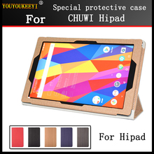 Case for CHUWI Hipad 10.1 inch tablet pc ,Fashion 3 fold Folio PU leather Stand cover case for chuwi hipad + Stylus + Screen стоимость