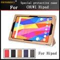 Per CHUWI Hipad 10.1 pollice tablet pc, di modo 3 fold Folio DELL'UNITÀ di elaborazione Del cuoio Del Basamento della copertura di caso per chuwi hipad + Stylus + Schermo