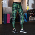 2016 Mens Running Camo Compression Pants Skinny Leggings Base Layer Fitness Trousers Tights Sport Sexy Gym Wear