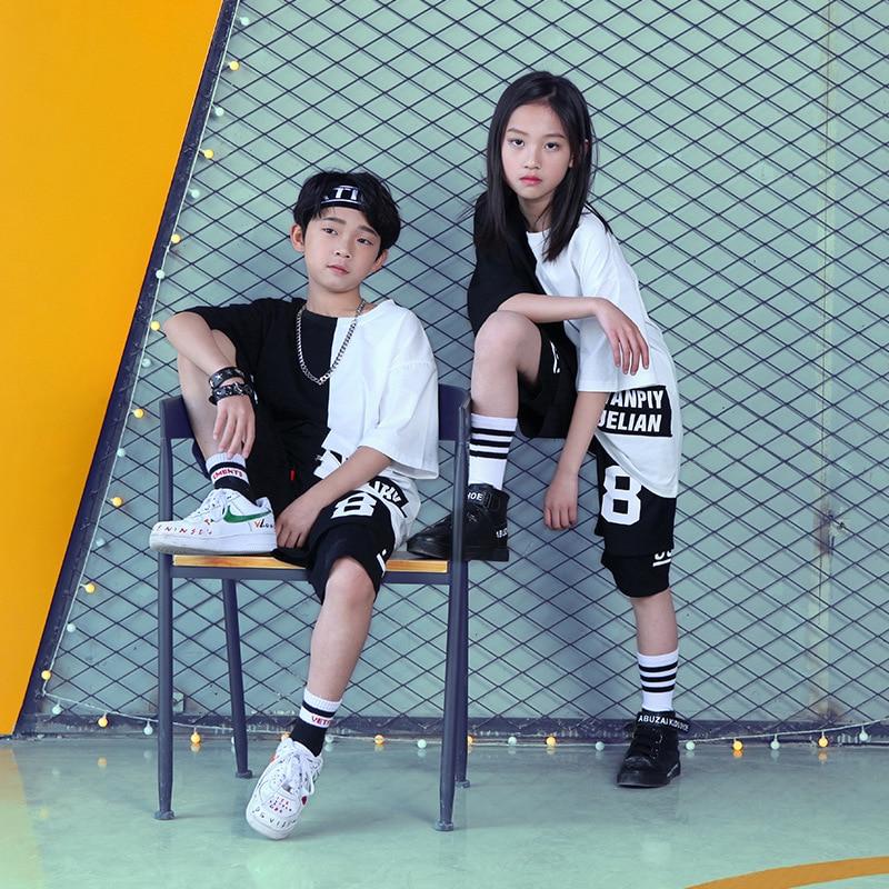Girls Boys Hip Hop Sweatshirt Dance Clothing For Kids T Shirt Tops Jogger Pants Jazz Ballroom Dancing Costumes Dancewear Outfits