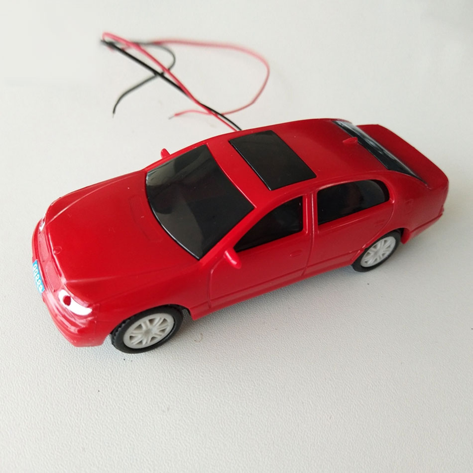 Teraysun 10pcs Miniature Model Light Car Kits Plastic Scale Light Car Model 1:50 Scale Car With LED Light