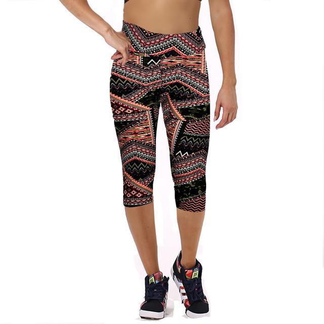 Floral Printed Elastic Yoga Leggings