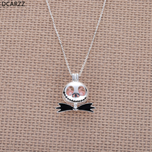 Nightmare Before Christmas Jack Necklace Pink Pearl Beads Pearl Cage Pendant Kids Christmas Gift Cosplay Jewelry Wholesale