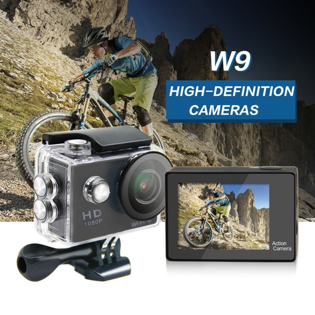 Ultra HD 1080P Action Camera Waterproof LCD Digital Mini Wifi Cam Bike Video Camcorder Outdoor Sports Camera s2 wifi action camera hd 1080p 4kx2k 2 0 inches lcd screen 170 lens waterproof sports camera outdoor diving bicycle camcorder